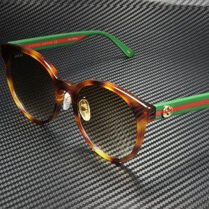Gucci Round Havana 55mm Sunglasses
